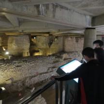 Antiguas letrinas en el Museo del Foro de Zaragoza