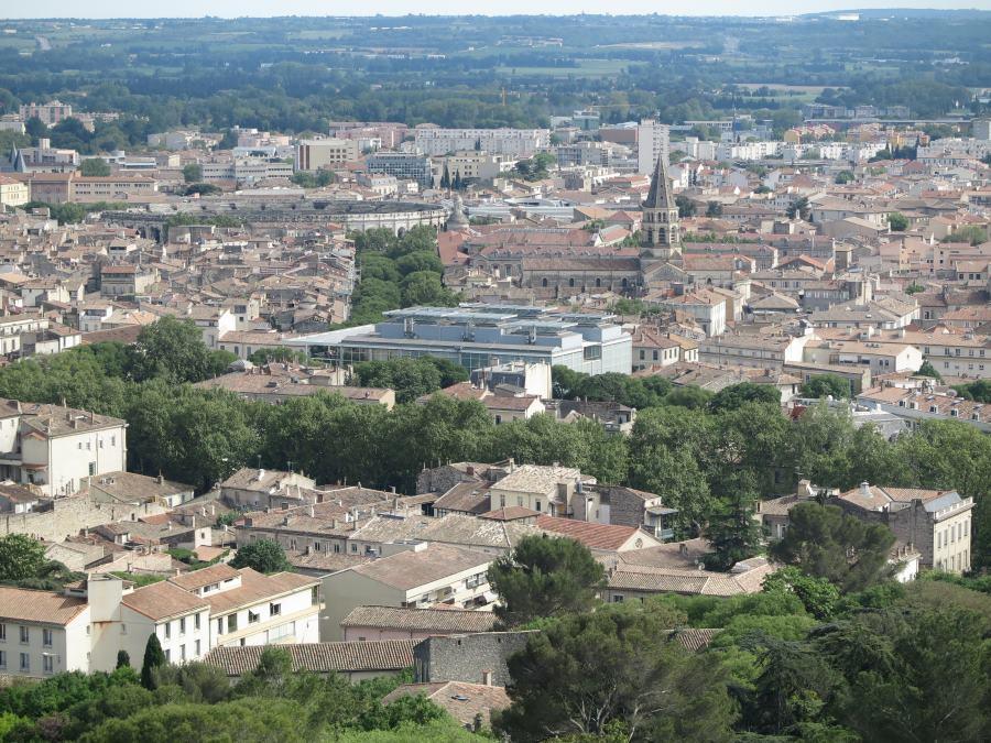 Vistas de Nîmes desde la Torre Magna