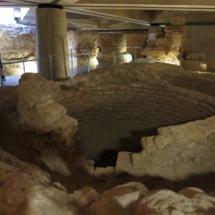 Ruinas del antiguo Foro romano de Zaragoza