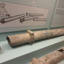Tuberías del Museo del Foro Romano de Zaragoza