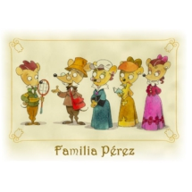 Retrato de la familia de Ratón Pérez