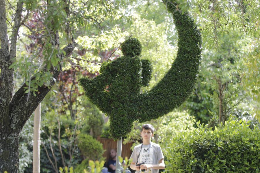 Escultura vegetal en El Bosque Encantado de San Martín de Valdeiglesias