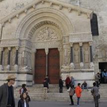 Fachada de Saint Trophime, en Arles