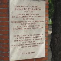 Cartel informativo en el Parque del Oeste de Madrid
