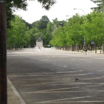 Paseo del Parque del Oeste de Madrid
