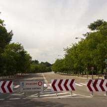 Paseo de Camoens, peatonal los fines de semana