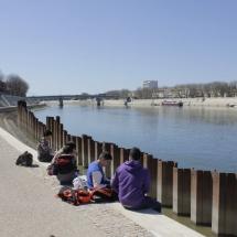 Río Ródano, en Arles
