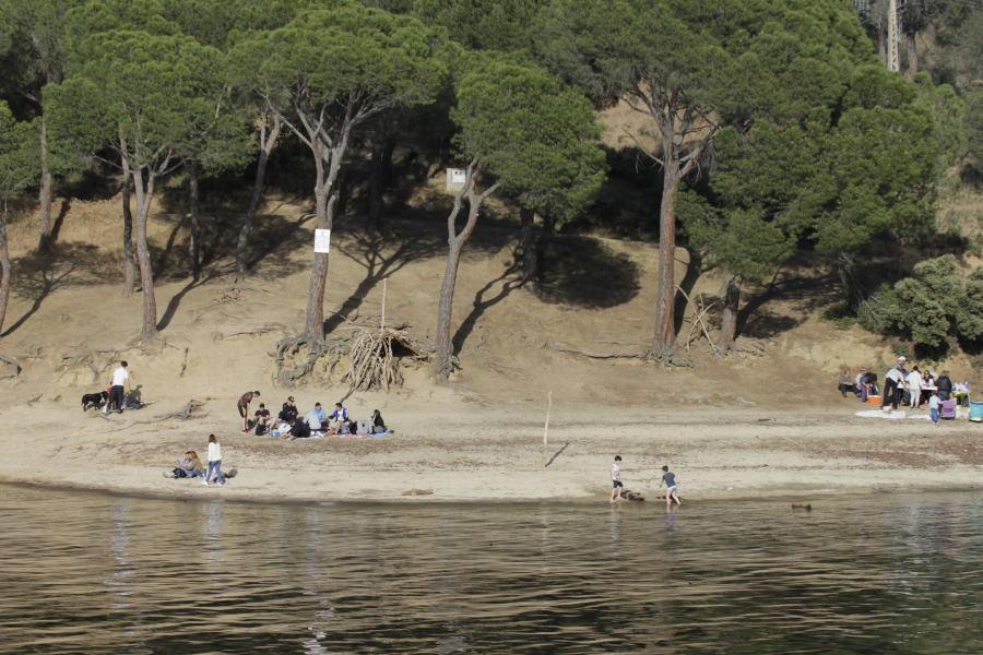 Playa del Pantano de San Juan, en Madrid