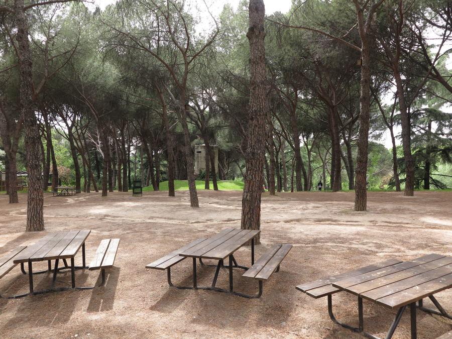Zona de picnic del Parque del Oeste de Madrid
