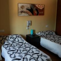 Detalle de una habitación del Hotel Les Roques, en L'Empordà