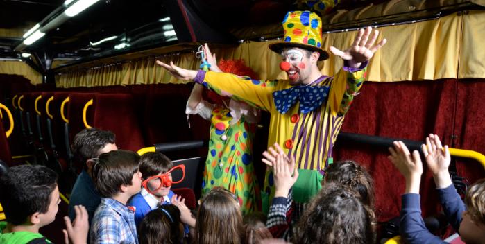 Teatrobús, para una fiesta de cumpleaños teatral