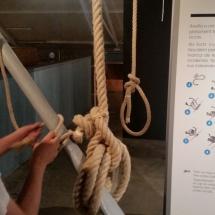 Nudos marineros en el Museo de la Pesca de Palamós