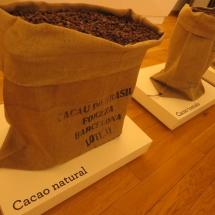 Sacos de cacao en el Museo del Chocolate de Astorga