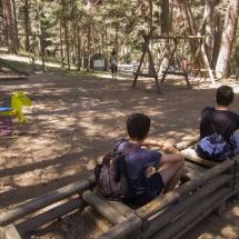 Columpios del Parque del Chorro de Navafría, en Segovia