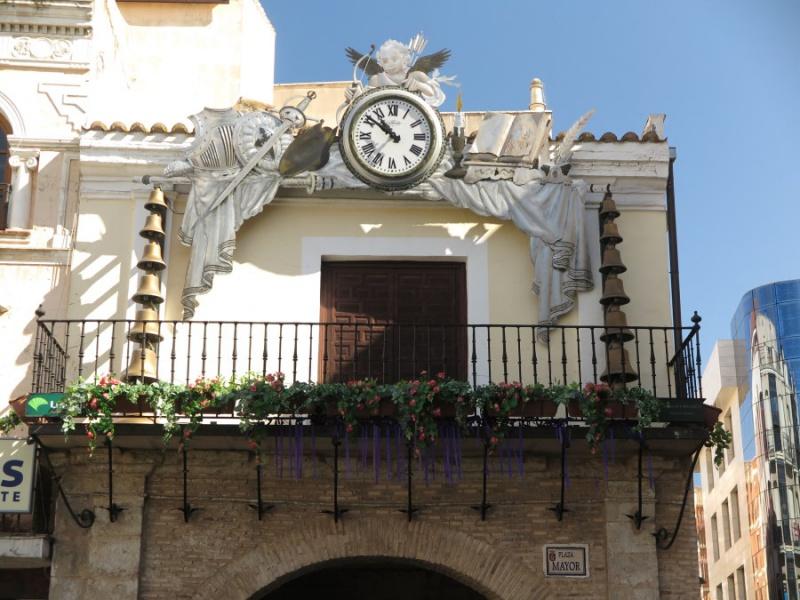Detalle de la Plaza Mayor de Ciudad Real