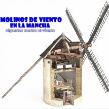 Esquema de un molino de viento de La Mancha