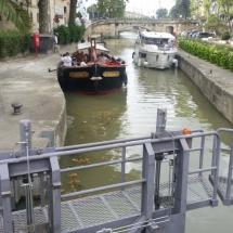 Exclusas del canal de La Robine, en Narbona