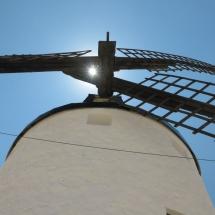 Aspas de un molino de viento manchego