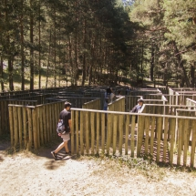Laberinto del Parque del Chorro de Navafría, en Segovia