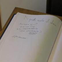 Libro visitas del Museo del Chocolate de Astorga