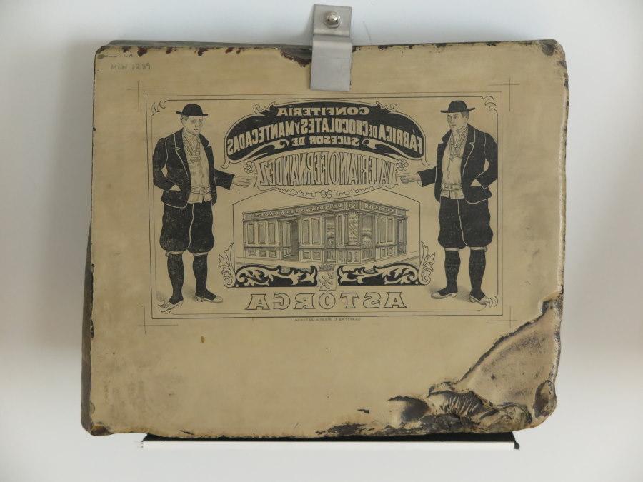 Litografía del Museo del Chocolate de Astorga