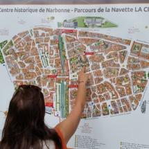 Plano turístico de Narbona