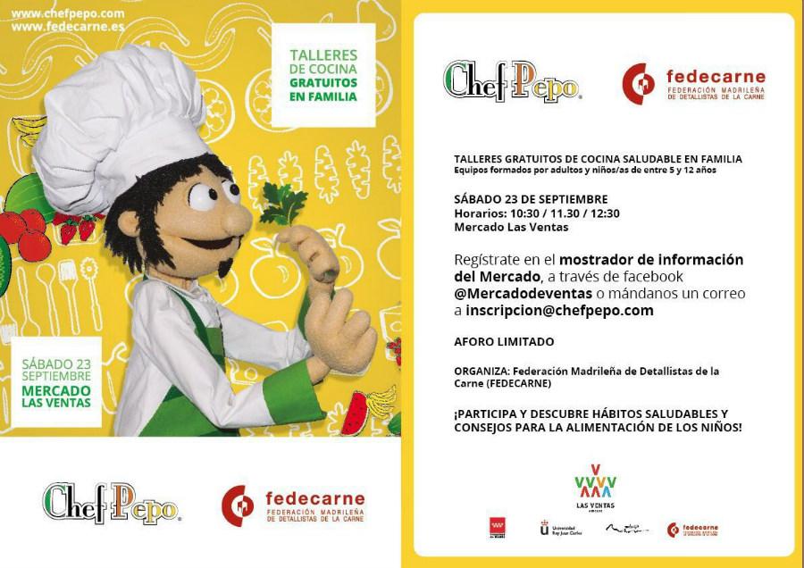 Talleres gratuitos de cocina saludable en familia en Madrid con el Chef Pepo