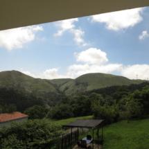 Vistas de las montañas asturianas desde La peral