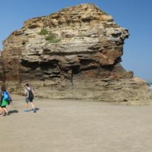 Playa Las Catedrales en periodo de bajamar