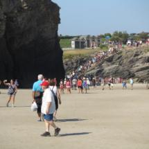 Playa de Las Catedrales en agosto