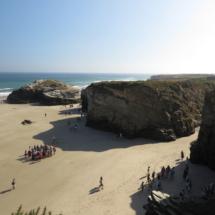 Playa de Las Catedrales: moles de pizarra