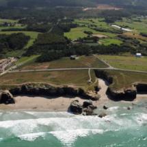 Vista aérea de la Playa de Las Catedrales