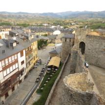 Vistas de Ponferrada desde el castillo
