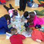 Sesión de mindfulness con niños y niñas