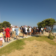 Colas de acceso a la Playa de Las Catedrales