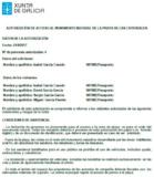 Documento de permiso para acceder a la Playa de Las Catedrales