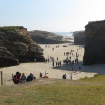 Vista general de la Playa de Las Catedrales, para cuya visita en julio, agosto y septiembre es necesario un permiso