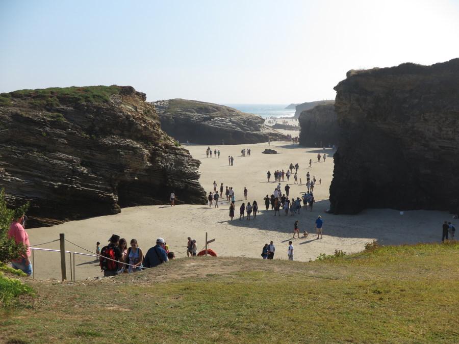 Vista geenral de la Playa de Las Catedrales, para cuya visita en julio, agosto y septiembre es necesario un permiso