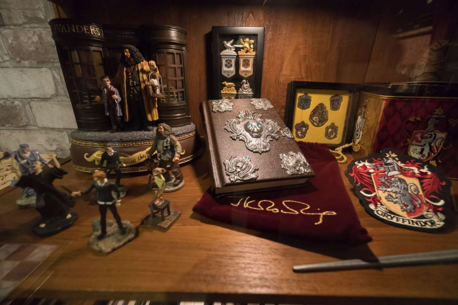 Objetos de la exposición de Harry Potter