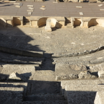 Escenario del teatro romano de Segóbriga