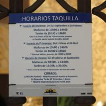 Cartel informativo del Castillo de Belmonte