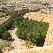 Esplanada en la que se realizan torenos medievales, en el Castillo de Belmonte