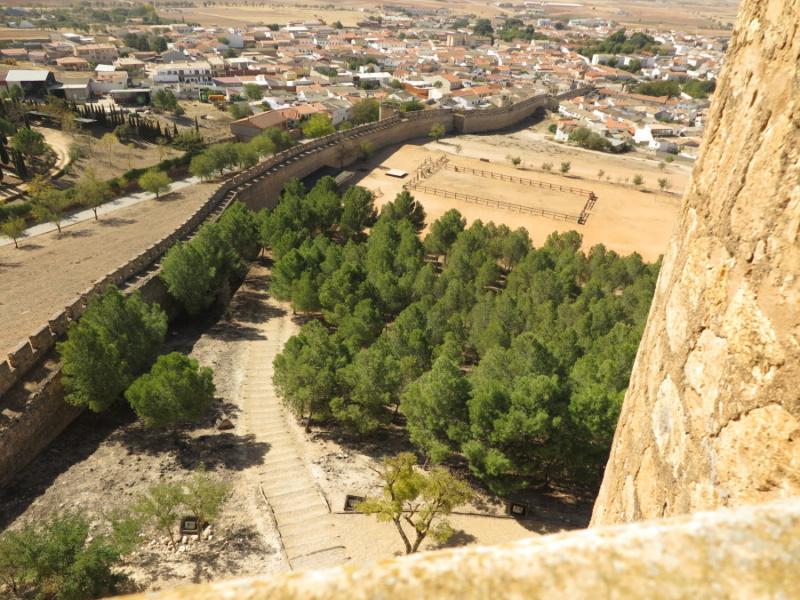 Explanada en la que se realizan torenos medievales, en el Castillo de Belmonte