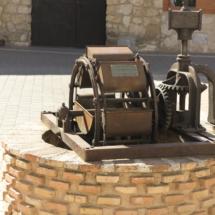 Representación de una noria, en Belmonte
