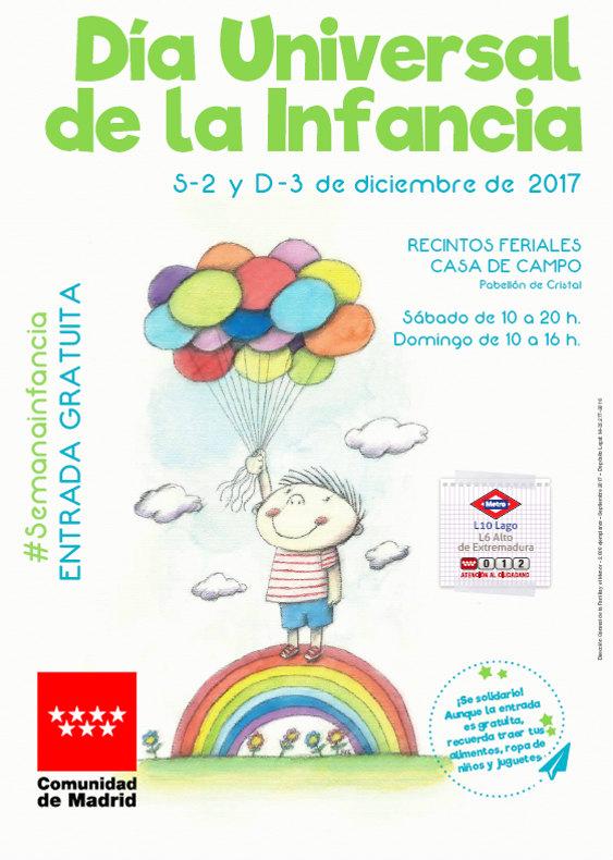 Cartel del Día Universal de la Infancia, 2017, en la Comunidad de Madrid