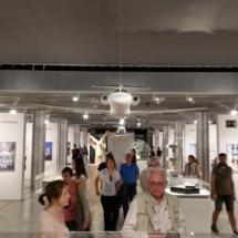Sala del Espacio Fundación Teléfonica de Madrid, con la exposición de Norman Foster