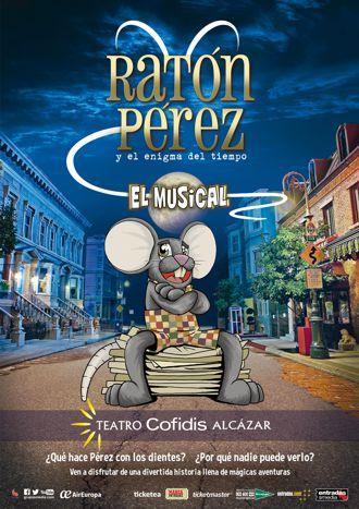 Cartel de la obra Ratón Pérez y el enigma del tiempo