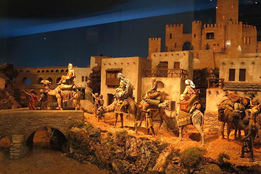 Los Reyes Magos: Melchor, Gaspar y Baltasar.