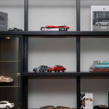 Maquetas y miniaturas de modelos en la exposición de Porsche en Madrid