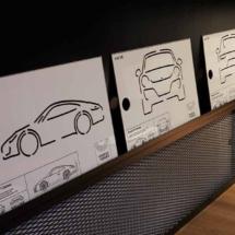 Plantillas de diseño de coches Porsche en la exposición de Porsche en Madrid